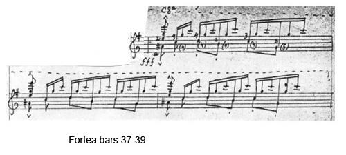 Fortea bars 37-39